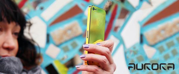 見る角度で輝きがオーロラの用に変化するiPhone用保護フィルム『Aurora for iPhone5』『Aurora for iPhone4S/4』予約開始のお知らせ