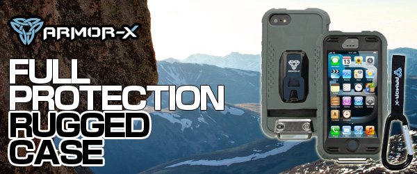 『Full Protection Rugged Case for iPhone5』『Armor-X Car Mount for Rugged Case』予約開始