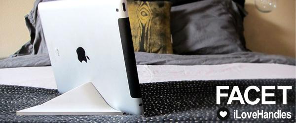 3種の角度が選べるピラミッド型マグネットスタンド『FACET for iPad』予約開始のお知らせ