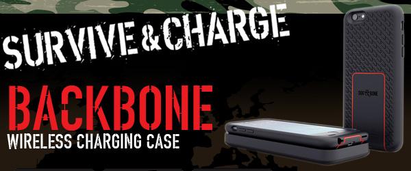 Survive & Charge!!米軍MIL規格準拠・ワイヤレス充電機能付きiPhone6用タフネスケース『BACKBONE』販売開始のお知らせ