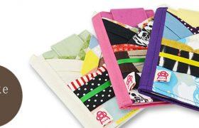 オリジナルデザインの和柄の布を使った多機種対応手帳ケース『book pokke』販売開始